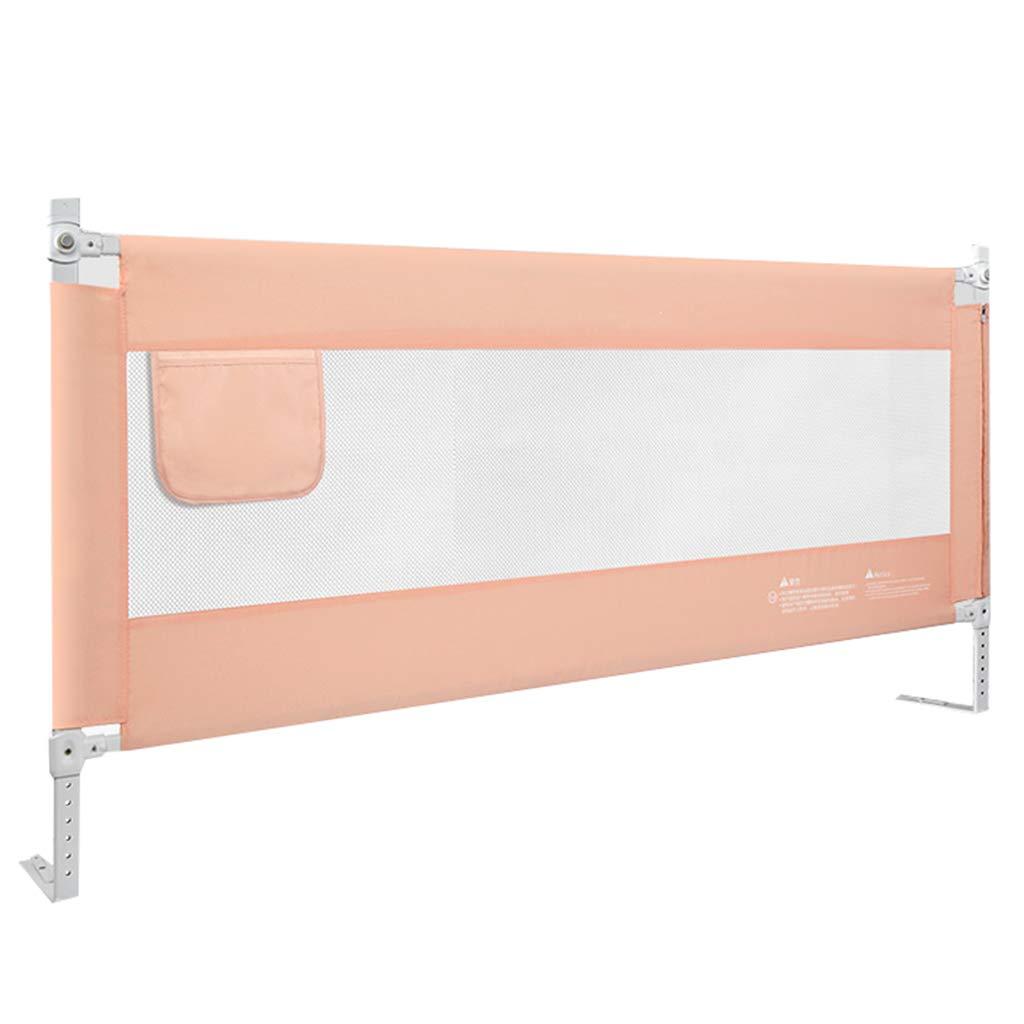 ポータブルベッドガード クイーン/キングサイズ、調節可能な安全のための幼児用ガードレール子供のためのベッドレイルベッドガードベビー、金属 (色 : Pink, サイズ さいず : Length 150cm) B07HRNP3G2 Length 150cm Pink Pink Length 150cm