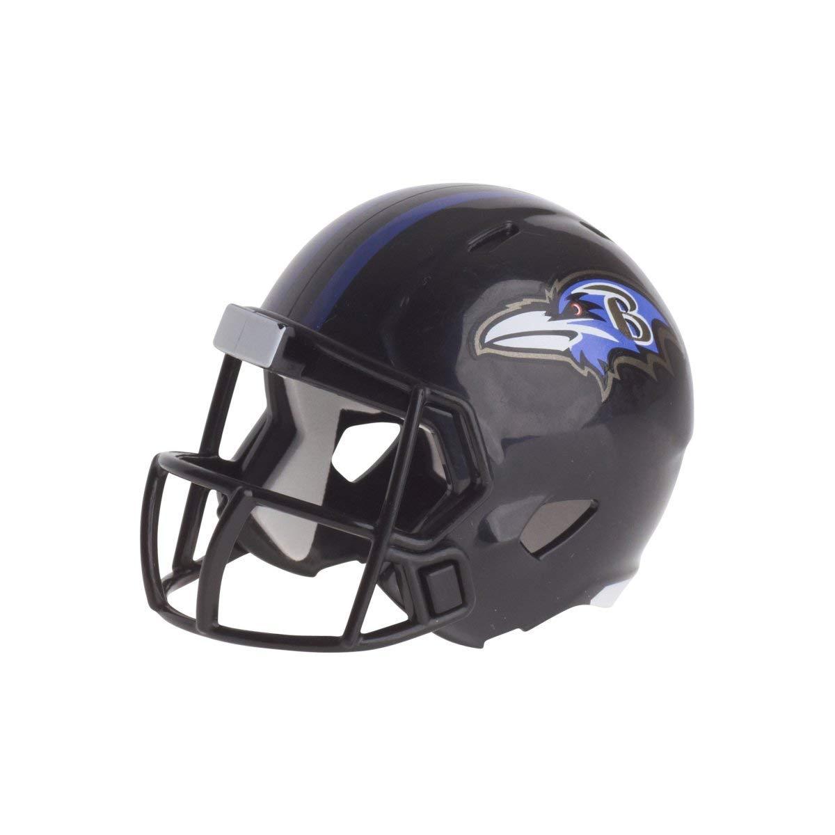 Riddell Mini-Footballhelm, NFL-Design: Baltimore Ravens, Taschengröße Taschengröße 095855320496