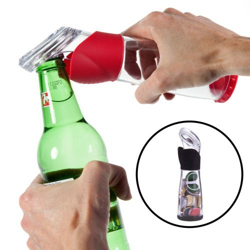 Trudeau Bottle Opener Cap Catcher Bar Tool Stores 30 Camping Party Holder Beer by Trudeau