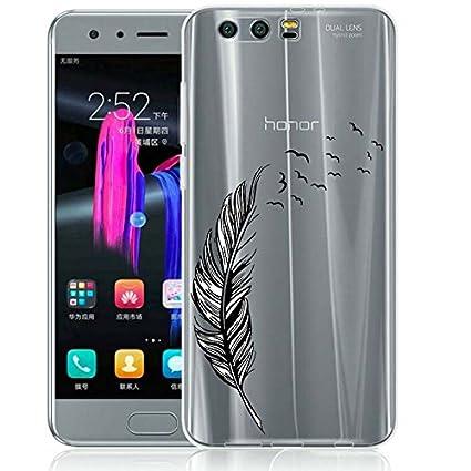 Honor 9 Funda, ocketcase® TPU Carcasa Suave Silicona Flexible Gel Funda Resistente a los Arañazos Tapa Protectora Case Cover para Huawei Honor 9 ...