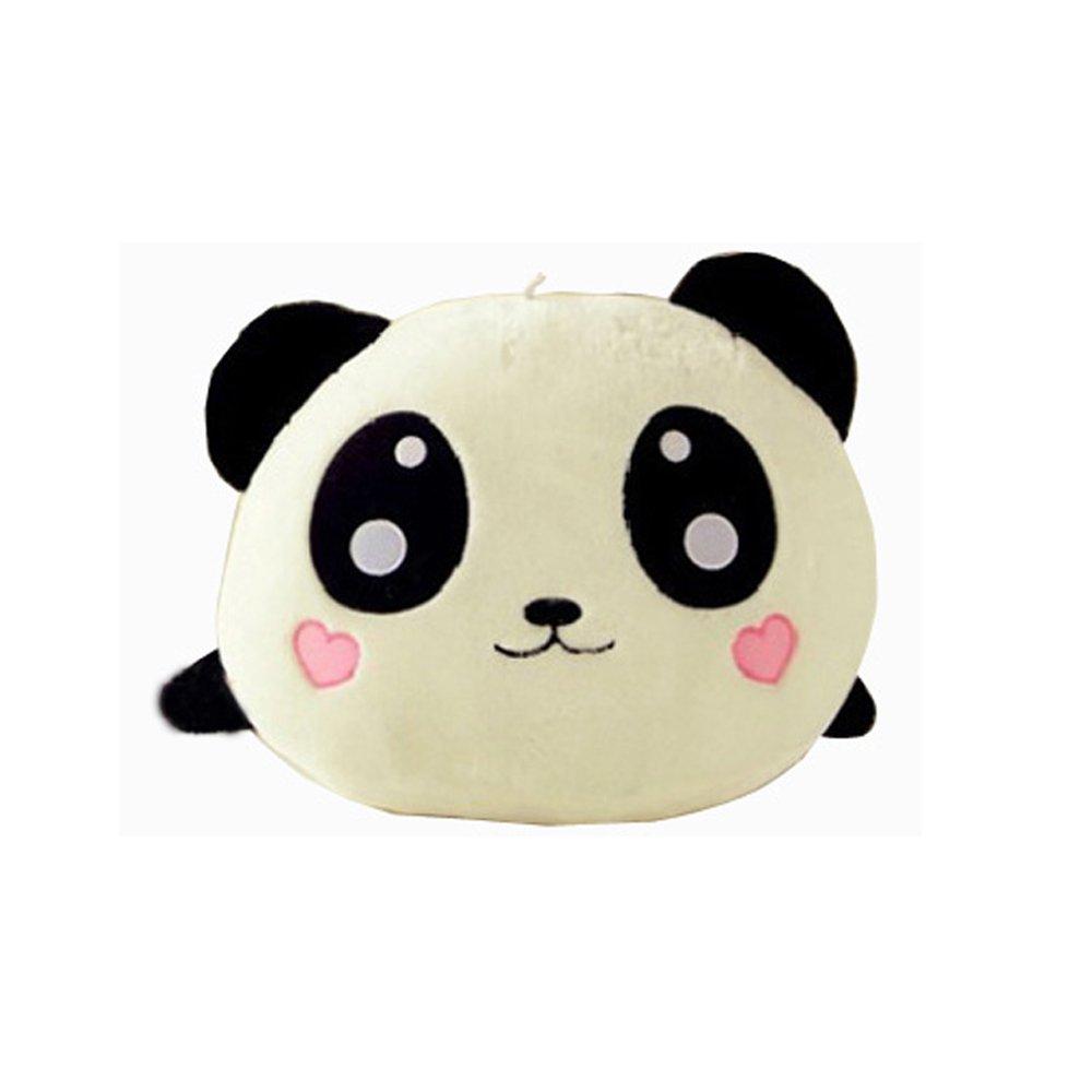 Baifeng Kawaii Plush Stuffed Doll Toy Emoji Panda Bun Baby Sleeping Comfort Soft Animal Puppet Pillow Cushion 20cm