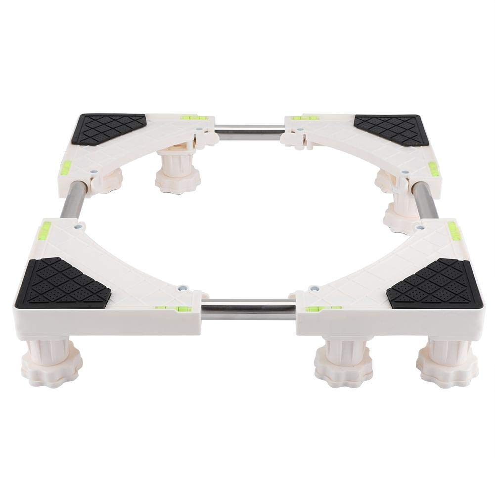 FTVOGUE Base Resistente de la Base de la Lavadora Ajustable de 4/8 pies Soporte del refrigerador Soporte del Soporte Base de la Nevera Base móvil(02): ...