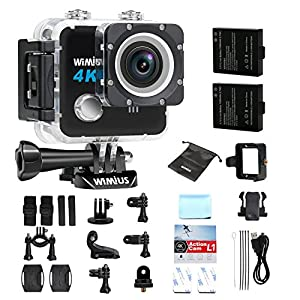 WIMIUS L1 4K Action Camera Wifi 1080p 60fps 20MP Waterproof Sports $62.77 FS @Amazon third party online deal
