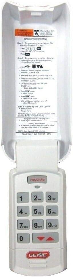 37225R White cover Overhead Door CodeDodger II Wireless Keypad OKP-BX