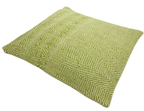 Donegal Green - Throw Pillow Cover 100% Wool Green Made in Ireland