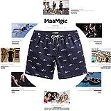 MaaMgic Mens Quick Dry Short Swim Trunks With Mesh