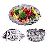 Stainless Steel Folding Steamer Steam Vegetable Basket Mesh Expandable Cooker