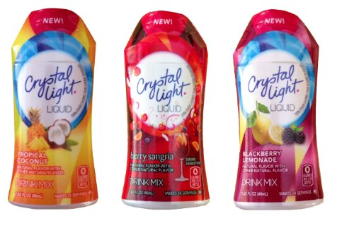 Crystal Light Liquid Variety Drink Mix 1.62 Fl Oz Tropical Coconut , Berry Sangria , Blackberry Lemonade for $<!--$14.98-->