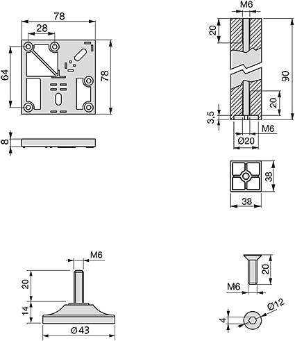 de amortiguadores de amortiguaci/ón material ABS reciclable Gabinete de cocina Tope de puerta Caj/ón Suavemente silencioso Cerrar m/ás cerca Amortiguadores de amortiguaci/ón para armarios de of blanco