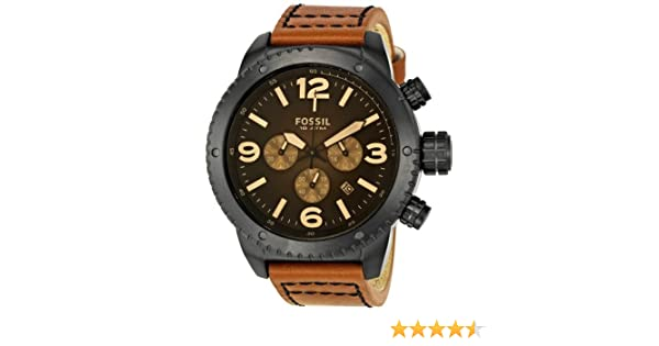 Amazon.com: Fossil Mens Sport Quartz Stainless Steel and Leather Casual Watch, Color:Brown (Model: CH2666): Fossil: Watches