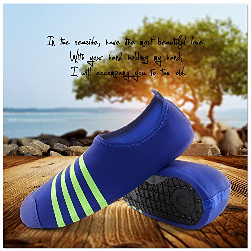 Thunder Unisex Water Skin Shoes Aqua Socks Barefoot Shoes For Beach Pool Water Sports, Yoga Exercise, Outdoor Running, Fitness Dark Blue