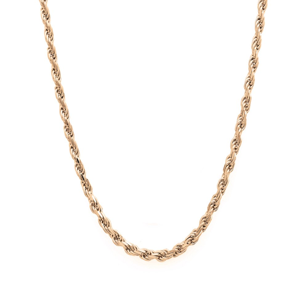 14k Yellow Gold Diamond Cut Hollow Rope 016 2MM 8'' Bracelet