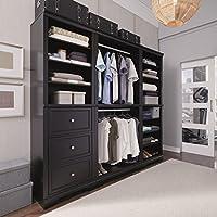 3-Piece Home Styles Bedford Black Closet/Storage System Organizer