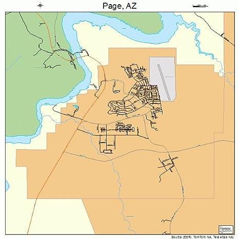 Amazon.com: Large Street & Road Map of Page, Arizona AZ - Printed ...
