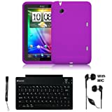 Best Crystal Case Wireless Keyboards - Purple Cover Protective Slim Durable Silicon Skin Case Review