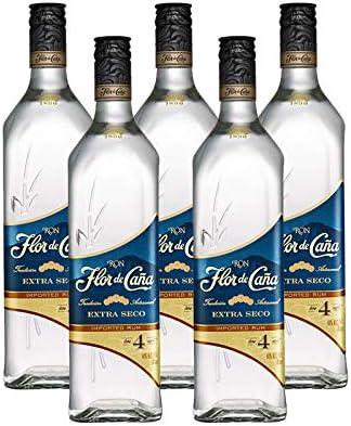 Ron Flor de Caña Extraseco de 4 años de 70 cl - D.O. Nicaragua - Bodegas Osborne (Pack de 5 botellas): Amazon.es: Alimentación y bebidas