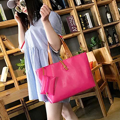 Bag Rose Bag Large Casual Belt Buckle Shoulder Space Refago Roomy Red Uqg8zRwx