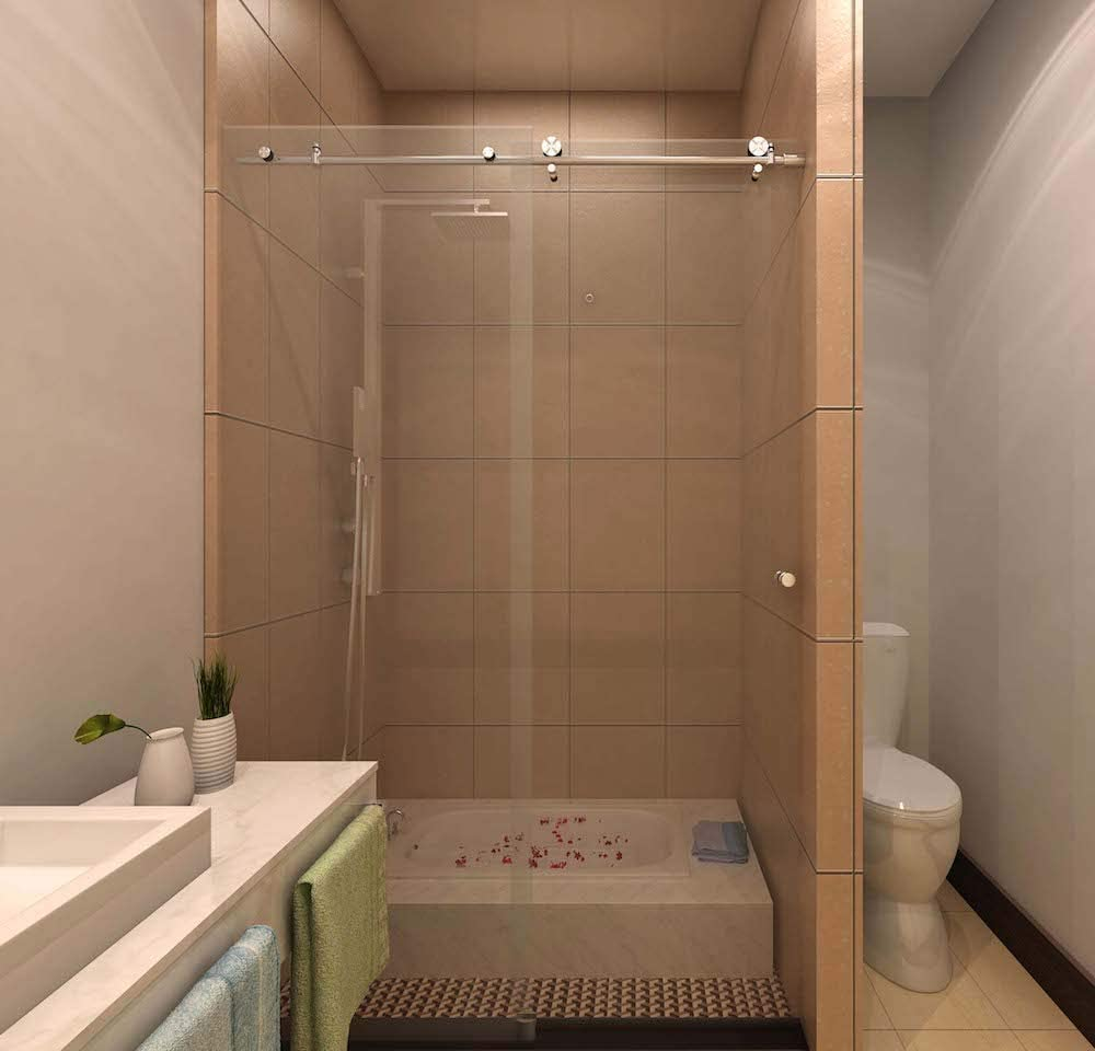 SSH Colonia – diseño moderno sin marco puerta corredera de ducha bañera hardware solo moderno cepillado Acabado en acero inoxidable 304: Amazon.es: Bricolaje y herramientas