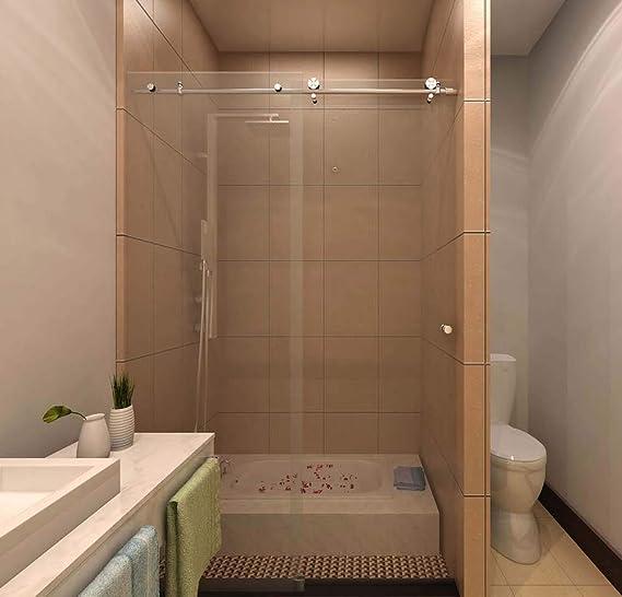 SSH Colonia – diseño moderno sin marco puerta corredera de ducha ...