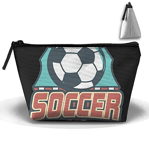 Portable Travel Storage Bags Football Soccer All Printed Clutch Wallets Big Pouch Purse Zipper Holder For Kits Medicine And Makeup Bag
