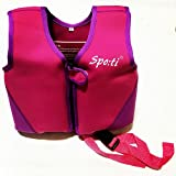 Titop Infant Baby Swimming Jacket with New Add Cross Belt for 5-8 Years Children Life Vest for Outdoor Sports Color Purple (Large, 45-66lbs)