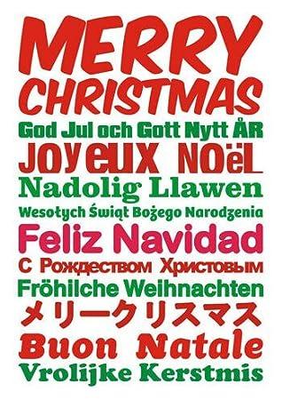 Frohe Weihnachten In Verschiedenen Sprachen.Frohe Weihnachten In Verschiedenen Sprachen Funny Weihnachten Karte