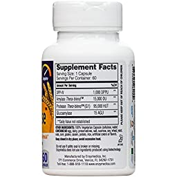Enzymedica - GlutenEase, Complete Gluten & Casein Formula with Digestive Enzymes, 60 Capsules (FFP)
