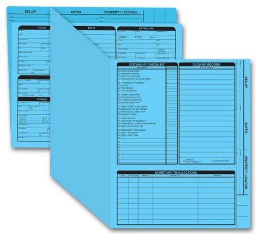 EGP Real Estate Folder, Right Panel List, Letter Size, Blue