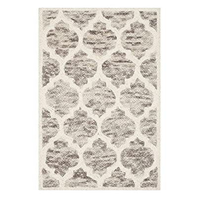 Safavieh Himalaya Collection HIM121A Handmade Light Brown and Ivory Premium Wool Area Rug
