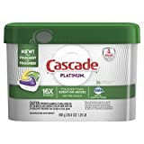 Health & Personal Care : Cascade Platinum ActionPacs Dishwasher Detergent, Lemon, 36 count (Packaging May Vary)