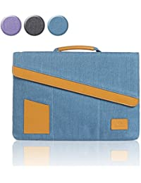 """Laptop 13.3 Inch Briefcase Sleeve Cover with Handle Carrying Case Bag for Macbook Air Pro 2015 / Retina / Surface Book, Ultrabook for 13"""" 13.3"""" Lenovo Dell Toshiba HP ASUS by Gearmax(Blue 13.3 Inch)"""