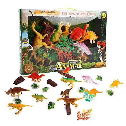 ToyerBee Simulation Dinosaurs Pack 11 Pcs Plastic Dinosaur Kit For