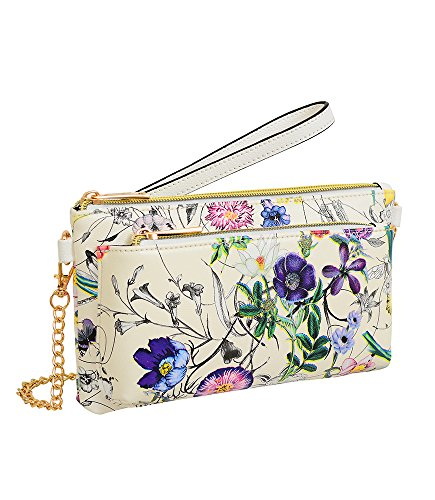 Front Wristlet Multicolor Floral World Zip Evie Mellow with Pocket wtAXx1xnq
