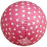 Around The Wall BJPINLI011 Pink Flower Suspension Boule Japonaise Lampion Papier de Riz Rose 20 x 20 x 20 cm