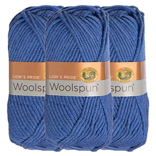 Woolspun Acrylic & Wool Soft Periwinkle Blue Yarn for Knitting Crocheting Bulky #5 ()