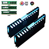 Universal RGB Always on RAM Shell Memory Glowing Heatsink For Computer LED Cooling Vest Fin Heat Sink Controller For DDR3 DDR4 (M series)