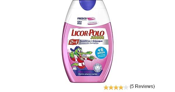 Licor del Polo Junior - Dentífrico + Enjuague, Sabor Fresa, +6 ...