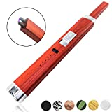 Sparcker Electric Arc Lighter - Multi-Purpose - Safety Lock - Hook - USB Rechargeable - Flameless - Windproof - Butane Free - Candles - BBQ - Camping - Grill - Stove - Gift Box (Red Wood)