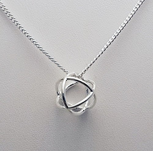 (Geometric Necklace - Sterling Silver Circle Pendant - Open Circle Necklace - Layering Necklace - Everyday Necklace - Modern Necklace)