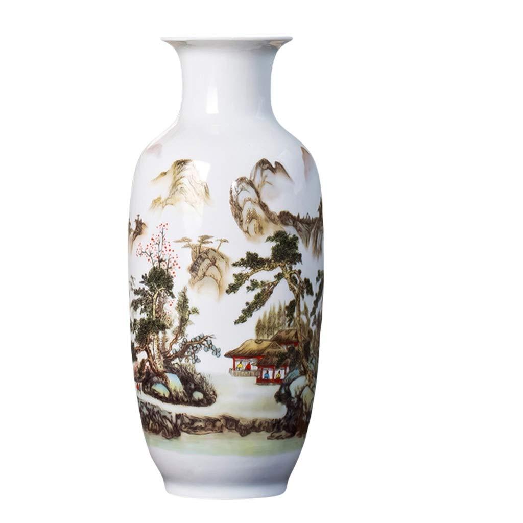 花瓶大花瓶セラミック装飾品リビングルームフラワーアレンジメント豊かな竹現代中国の家テレビキャビネット装飾 LQX (Edition : A) B07SHFDHQD  A