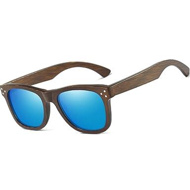 KITHDIA Handgefertigte Polarisierte Bambus Holz Sonnenbrille Mit Holz Fall-EZ028 RqDQr34K
