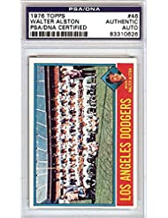 Walter Alston Autographed Hand Signed 1976 Topps Card PSA DNA #83310626