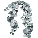 Artificial Hanging Ivy Leaf Vine, 5.7 Ft Faux Begonia Leaves,Twigs Silk Plant Leaves Garland String in Green for Indoor Outdoor Wedding Decor Party Supplies