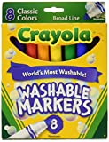 Crayola Washable Markers, Broad Line, 8 Ct.
