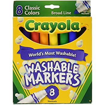 8 ct. Crayola Broad Line Washable Markers