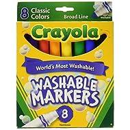 Crayola Washable Markers, Broad Line, 8 Ct.