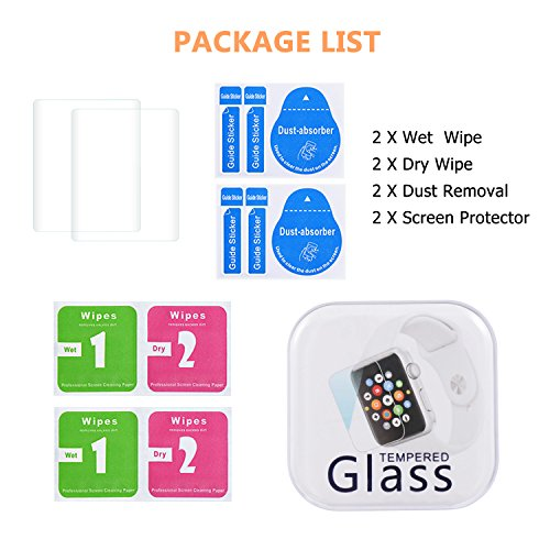 Apple Watch 38mm Screen Protector (Series 1 / Series 2/ Series 3), Bestfy Tempered Glass Screen Protector [Scratch Resistant] [Anti-Bubble] for Apple Watch [2 Pack] Photo #7