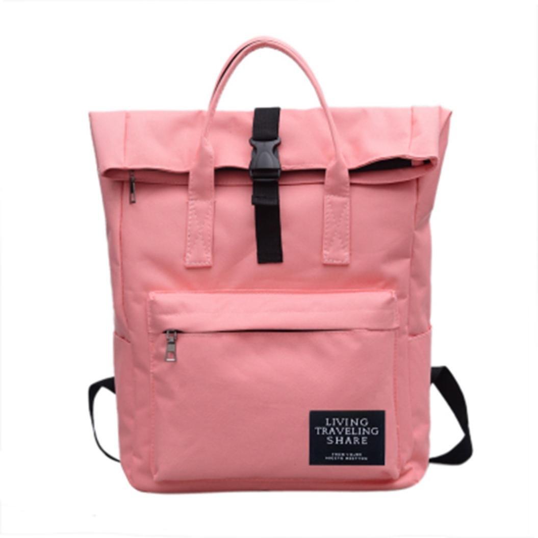 Backpack,Handbag,TUDUZ Boys Girls Nylon Waterproof Women Shoulder Bag Fashion Backpack Women Handbag Multifunctional Bag Travel Hiking Rucksack Laptop Bag for Office or Daily Life (Black) TUDUZ1