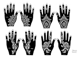Tattoo Stencil / Template Set of 8 Sheets 2A Henna Designs Suitable for Hand