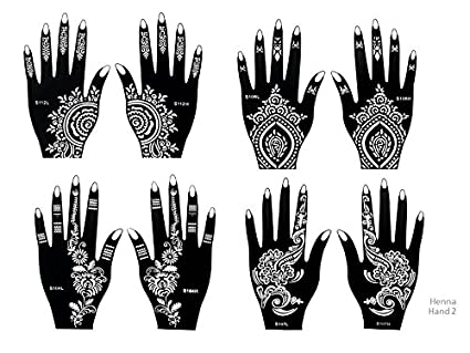 amazon com tattoo stencil template set of 8 sheets 2a henna